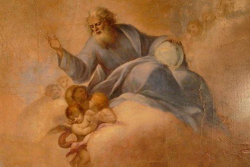 Fresco, Ceiling, Painting, God, Heaven, Religion