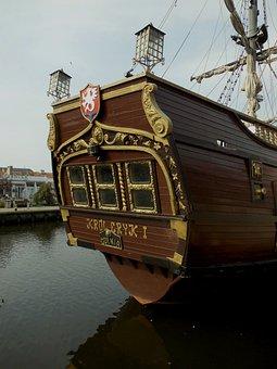 Darlowo, Port, Ship, Poop, Rear, Rear Window