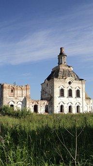 Abandoned Church, On The Irtysh River, Siberia