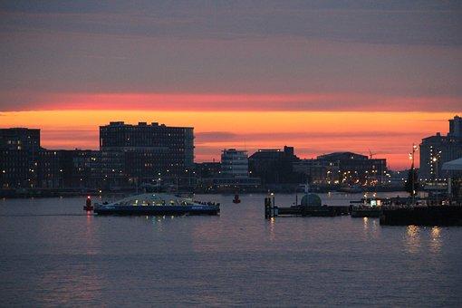 Golden, Sun Set, Amsterdam, Summer, Sun, Sea, Gold