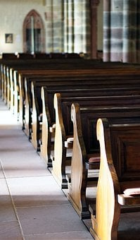 Church, Pew, Church Pews, Religion, Christianity