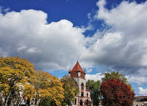 Downtown, Fall, Architecture, City, Cityscape, Historic