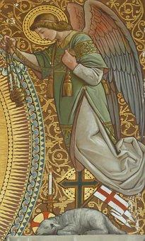 Fresco, Painting, Angel, Heaven, Religion