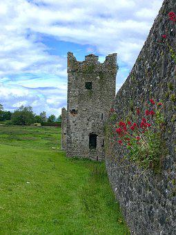 Ireland, Sky, Clouds, Flowers, Celtic, Old, Medieval