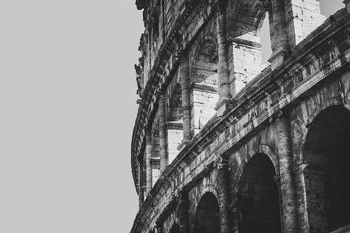 The Coliseum, Rome, Italy, Building, Architecture, Old