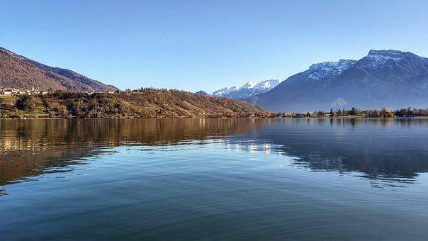 The Lake Of Caldonazzo, Landscape, Nature, Lake