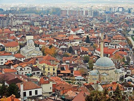 Prizren, Kosovo, City, Mosque, Landscape, Townscape