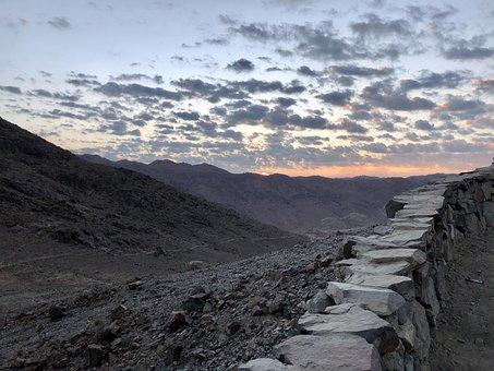 Sinai, Mount, Stone, Egypt, Mountains, Rocks, Sol