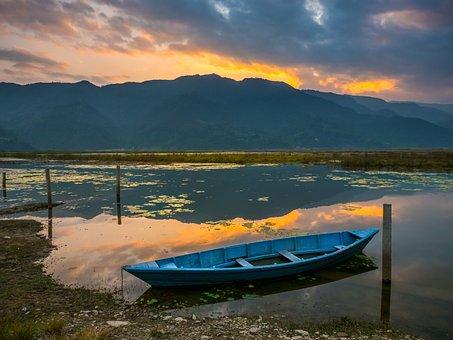 Lake, Nepal, Pokhara, Nature, Water, Travel, Kathmandu