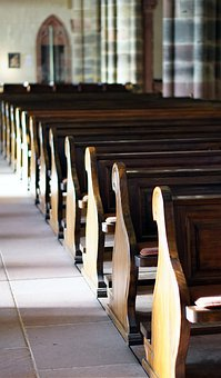 Church, Pew, Church Pews, Religion, Christianity
