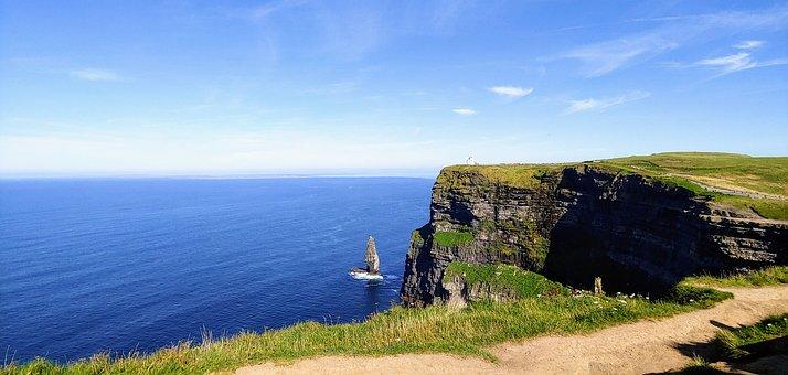 Ireland, Cliff, Cliffs, Moher, Landscape, Nature, Sea