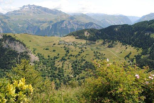 Mountain, Villard-reymond, Alps, France, Nature