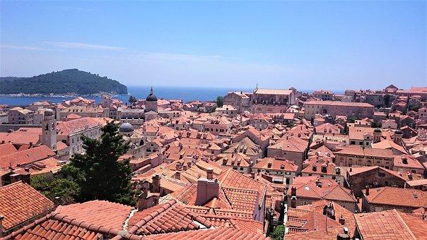 City, Croatia, Dubrovnik, Roofs, See, Tourism, Travel