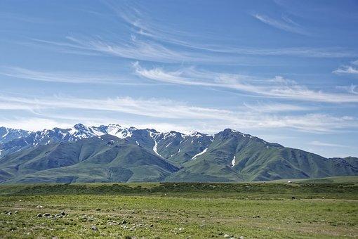 Kyrgyzstan, Mountains, Suusamyrtoo Mountain Range