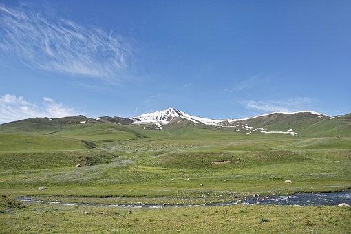 Kyrgyzstan, Susamyr River, Susamyr, River, Water