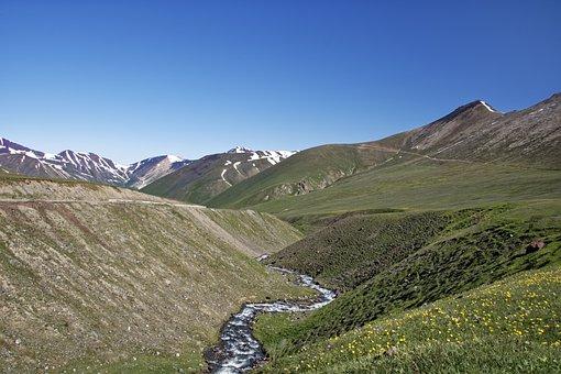 Kyrgyzstan, Naryn River, Naryn, River, Water