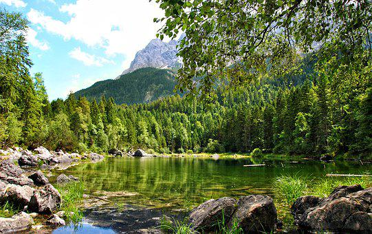 Bergsee, Nature, Hiking, Vacations, Landscape, Still
