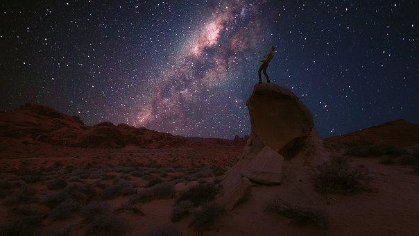 Milky Way, Night Photograph, Valley Of Fire, Nevada