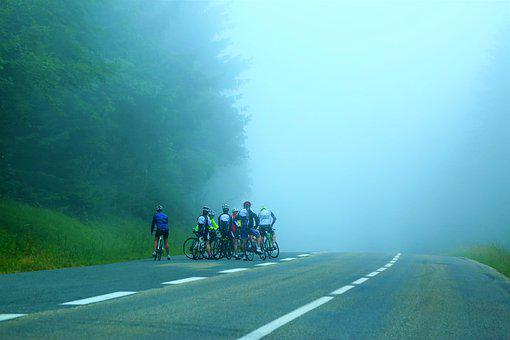Bicycle, Rider, Sports, Race, Sky, Equestrian, Road