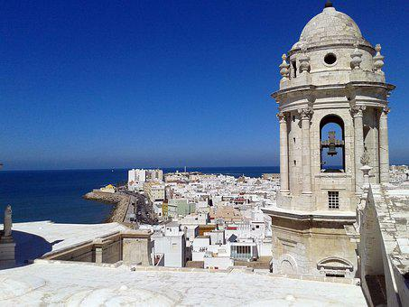 Cadiz, Cathedral, Sky, Church, Andalusia, Spain