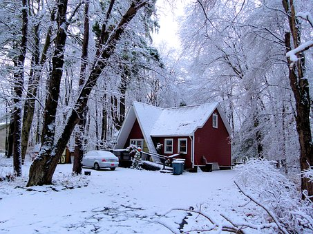 Snow, Ice, Winter, Frost, Nature, Snowfall, House
