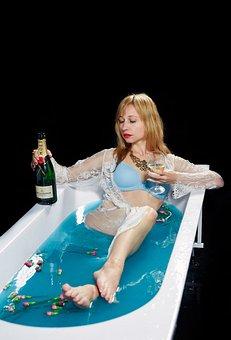 Bath, Girl, Woman, In The Bath, The Bathroom, Relax