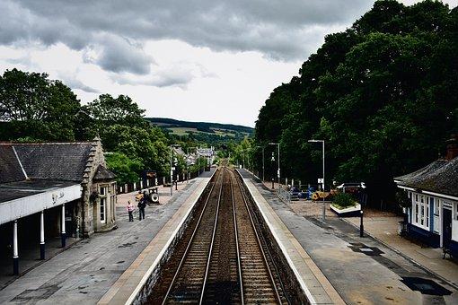 Railroad Tracks, Train Station, Travel, Transport