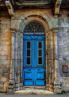 Door, Blue, Street, Architecture, Old, Aged