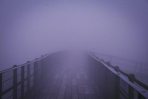 Foggy, Bridge, Fog, Nature, Architecture, Landscape