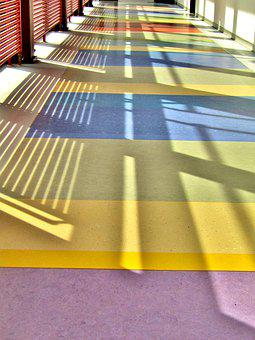 Floor, Shadow, Sun, Colorful, Color, Background