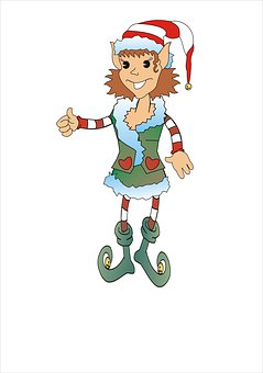 Christmas, The Character, Figurine, Decoration, Elfka