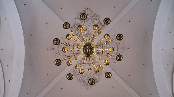 Chandelier, Vintage, Religious, Church, Decoration