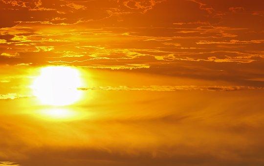 Sunset, Sun, Sky, Mood, Dusk, Clouds, Atmosphere