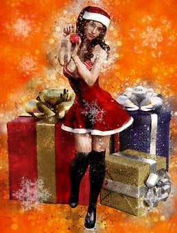 Christmas Motif, Decorative, Santa Hat