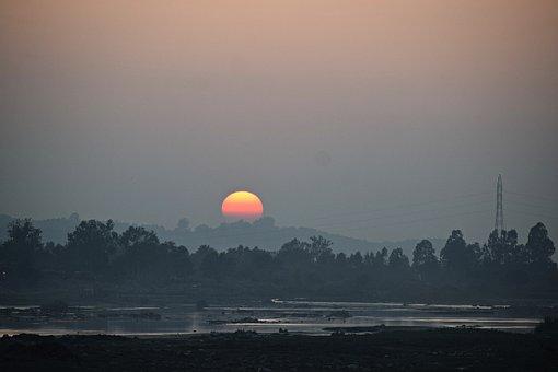 Sunset, Sky, Landscape, Clouds, Evening, Dusk, Nature