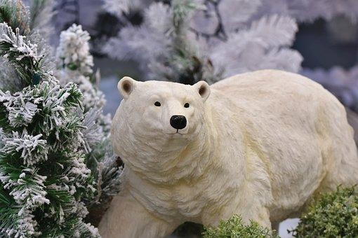 Polar Bear, Polar Bear Figure, Figure, Christmas