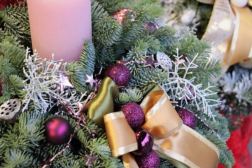 Christmas Decoration, Candle, Fir, Bow, Advent