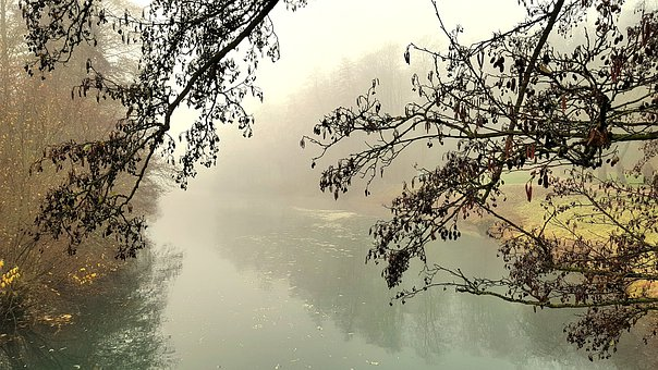 Fog, Waters, Kleve, Kermisdahl, Atmosphere, Mood, Rest