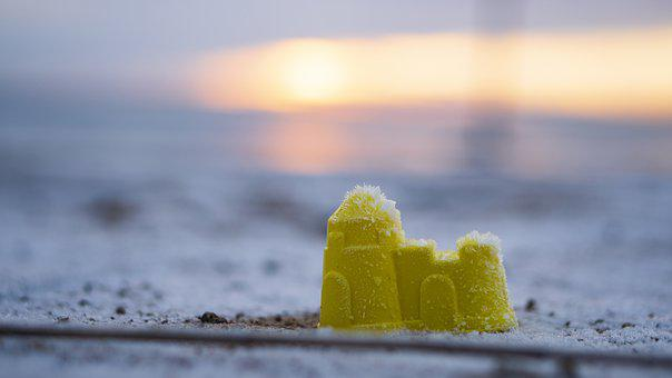 Toy, Beach, Snow, Ice, Kids, Sand, Frost, Sky