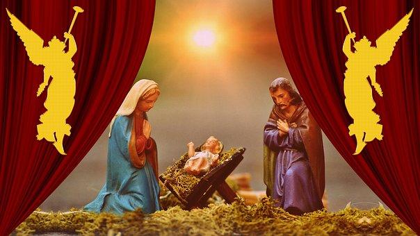 Christmas, Nativity Scene, Jesus, Cradle, Christ, God