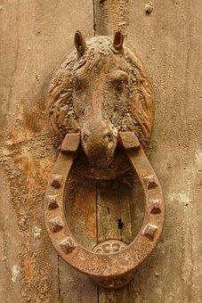 Knocker, Door Knocker, Horse, Horse's, Now, Wood