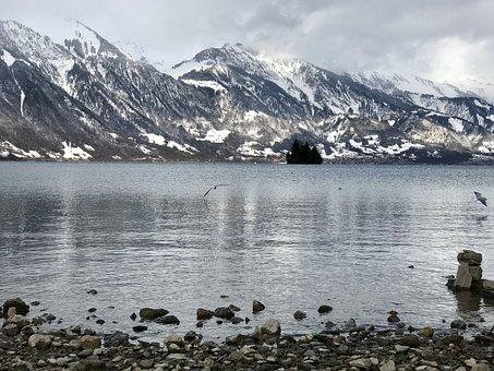 Switzerland, Interlaken, Mountains, Lake, Nature