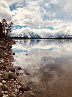 Grand Tetons, Lake, Landscape, Mountains