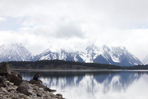 Grand Tetons, Wyoming, Lake, Landscape, Scenic, Nature