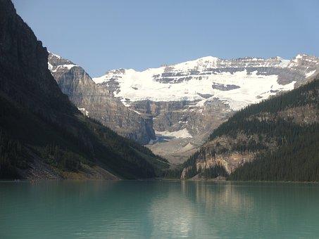 Canada, Lake Louise, Landscape, Mountains, Nature