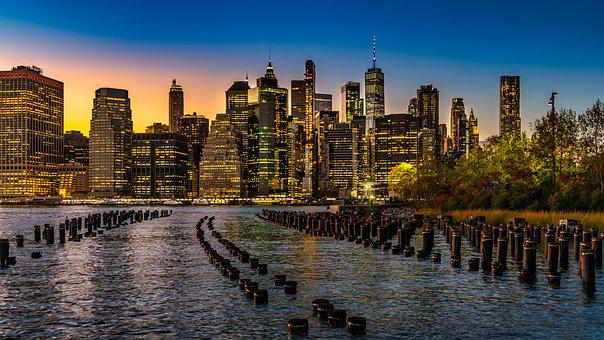 New York, Skyline, City, Architecture, Manhattan