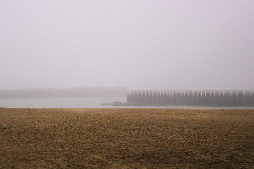 Fog, Northsea, Pier, Walk, Leisure, Sand, Jetty, Ocean