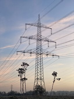 High-voltage Pylons, Power Supply, Power Lines, Germany