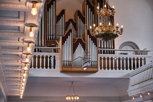 Church, Protestant, Organ, Vintage, Retro, Catholic