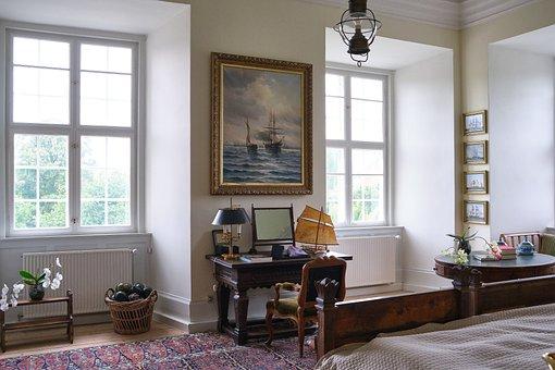 Room, Castle, Bedroom, Minimal, Vintage, Retro, Clean